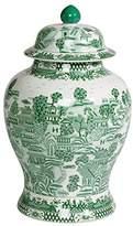 Ethan Allen Large Green Ginger Jar
