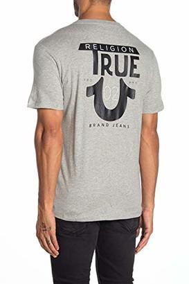 True Religion Men's Logo TR Short Sleeve Crewneck Tee
