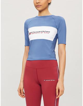 TOMMY SPORT Logo-print sports-jersey T-shirt