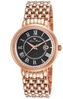 Lucien Piccard Black & Rose Gold Fantasia Bracelet Watch - Women