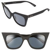 Quay Women's Harper 53Mm Cat Eye Sunglasses - Black / Smoke Lens