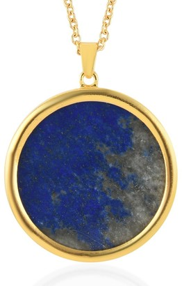 Shop Lc Steel Yellow Gold Lapis Lazuli Pendant Necklace Size 24 In Ct 95.5 - Size 24''