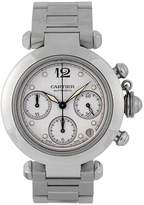 Cartier Pre-Owned Midsize Steel Pasha Chronograph Watch, Off-White Dial. Ref 2412