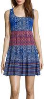 Speechless Sleeveless 3-Tier Babydoll Dress