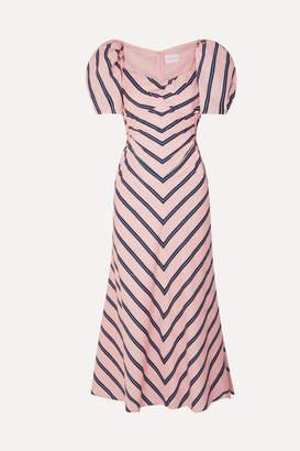 Alice McCall At Last Cutout Striped Cotton-poplin Midi Dress