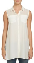 1 STATE Women's 1.state Sheer Yoke Sleeveless Tunic