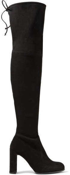 Stuart Weitzman Hiline Stretch-suede Over-the-knee Boots - Black