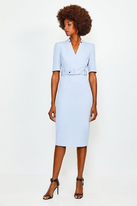 Karen Millen Forever Cinch Waist Pencil Dress