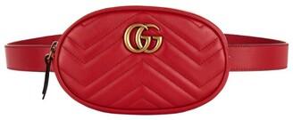 Gucci Leather Marmont Matelasse Belt Bag