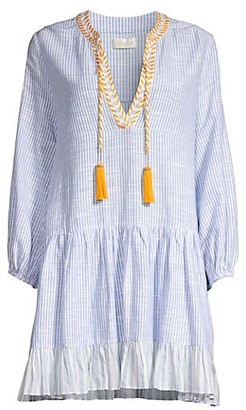 Shoshanna Classic Umbrella Stripe Tunic Mini Dress