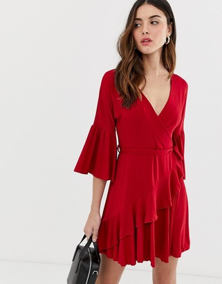 French Connection Ellette wrap dress-Red