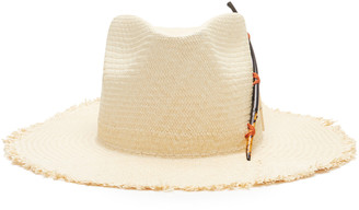 Nick Fouquet Black Bird Straw Hat
