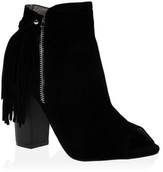 Public Desire Uk Amira Ankle Boots Faux Suede