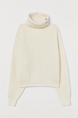 H&M Rib-knit Turtleneck Sweater