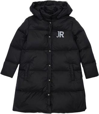 John Richmond Hooded Nylon Down Coat