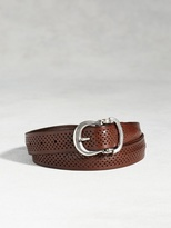 John Varvatos Artisan Perforated Belt