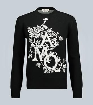 Alexander McQueen Ivy monogram crewneck cotton sweater