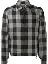 Lanvin check coach jacket - men - Virgin Wool/Cotton/Polyamide/Spandex/Elastane - 46