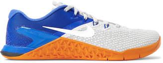 Nike Training - Metcon 4 XD X Rubber-Trimmed Mesh Sneakers - Men - Gray