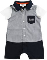 HUGO BOSS Cotton Jersey & Poplin Romper