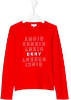 DKNY Teen logo print T-shirt