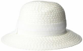 Vince Camuto Women's Woven Paper Straw Cloche hat