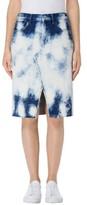 J Brand Women's Trystan Bleached Denim Midi Skirt