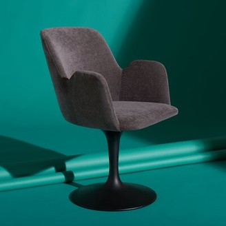 Safavieh Couture Cherith Upholstered Arm Chair Upholstery Color: Anthracite