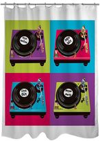 Thumbprintz Party Tunes Turntable Fabric Shower Curtain