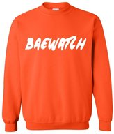 Artix BAEWATCH Bae Watch in White Unisex Crewneck Sweatshirt
