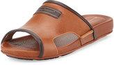 Tommy Bahama Myer Leather Slide Sandal, Whiskey