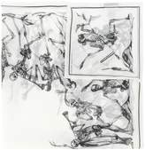 Alexander McQueen skeleton orchestra print scarf