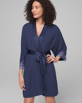 Soma Intimates Embroidered Short Robe