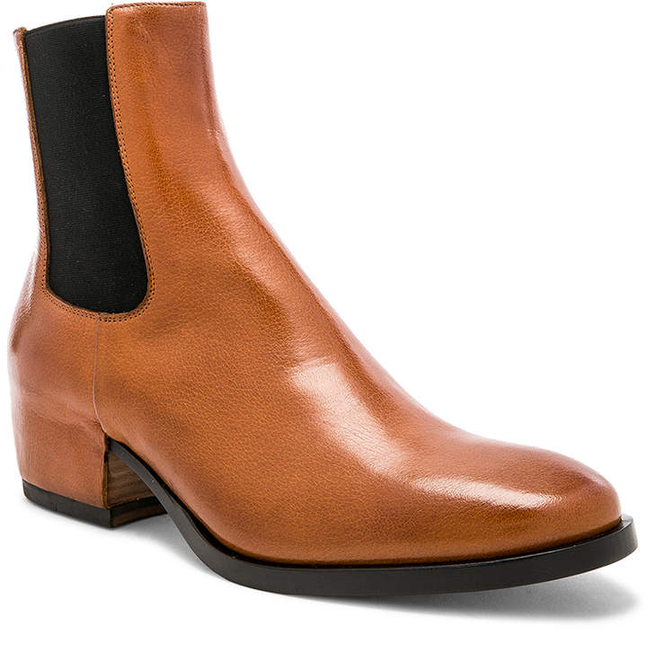 Givenchy Cuban Heel Leather Chelsea Boots