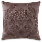 Manor Hill Sienna Sequins Damask Square Throw Pillow in Mocha