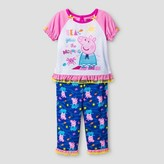Peppa Pig Toddler Girls' 'Sea You in the Morning' 2-Piece Sleepwear Set - Multicolor