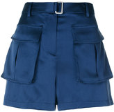 Theory pocket mini shorts - women - Silk/Polyester/Spandex/Elastane - 2