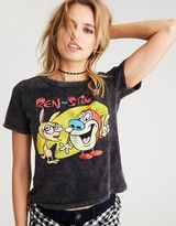 American Eagle Outfitters AE Ren & Stimpy Shrunken Graphic T-Shirt