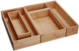 Lipper 88005 Stackable Bamboo Organization Boxes, Set of 5