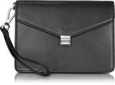 Giorgio Fedon New Class Leather Clutch w/Wristlet