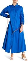 Marina Rinaldi Dondolo Long Sleeve Maxi Shirtdress