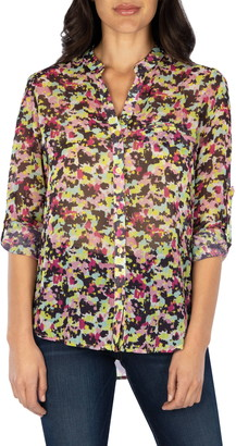 KUT from the Kloth Jasmine Allover Print Top