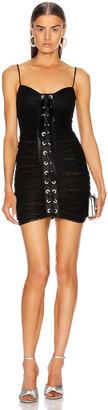 Alessandra Rich Lace Mini Dress in Black | FWRD