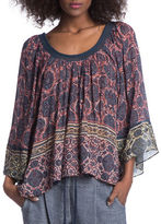 Plenty by Tracy Reese Printed Peasant Top