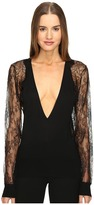 La Perla Leisuring Top w/ Lace Sleeves Women's Pajama