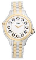 Fendi Crazy Carats Diamond, White Topaz, Black Spinel & Stainless Steel Medium Bracelet Watch