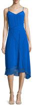 Elie Tahari Shirley Sleeveless Asymmetric-Hem Dress, Oasis