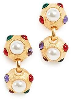 Kenneth Jay Lane Women's Imitation Pearl Clip On Earrings