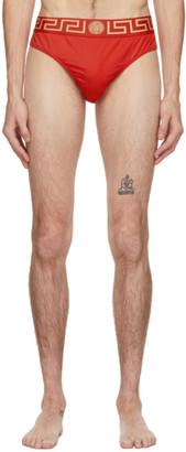 Versace Underwear Red Medusa Swim Briefs