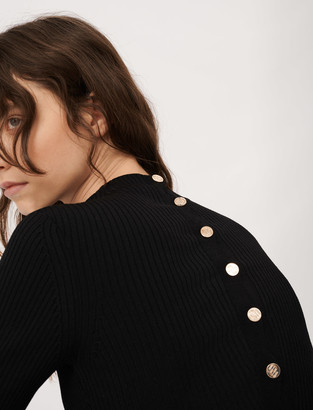 Maje Sweater with fancy buttons in the back